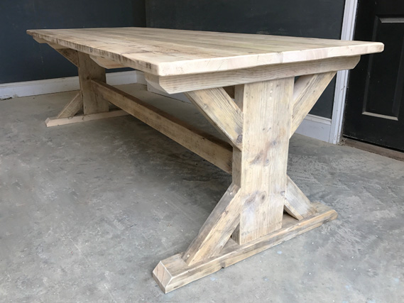 Reclaimed Timber Dining Table   Braced I-Frame Table   Farmhouse Dining Table   Industrial Dining Table   Rustic Dining Table