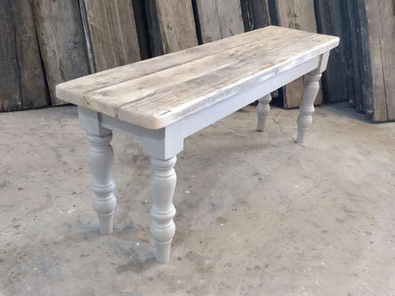 Farmhouse leg dining table and dining benches. Made from reclaimed timber. Rustic dining tables and dining benches. Rustic Dining Furniture