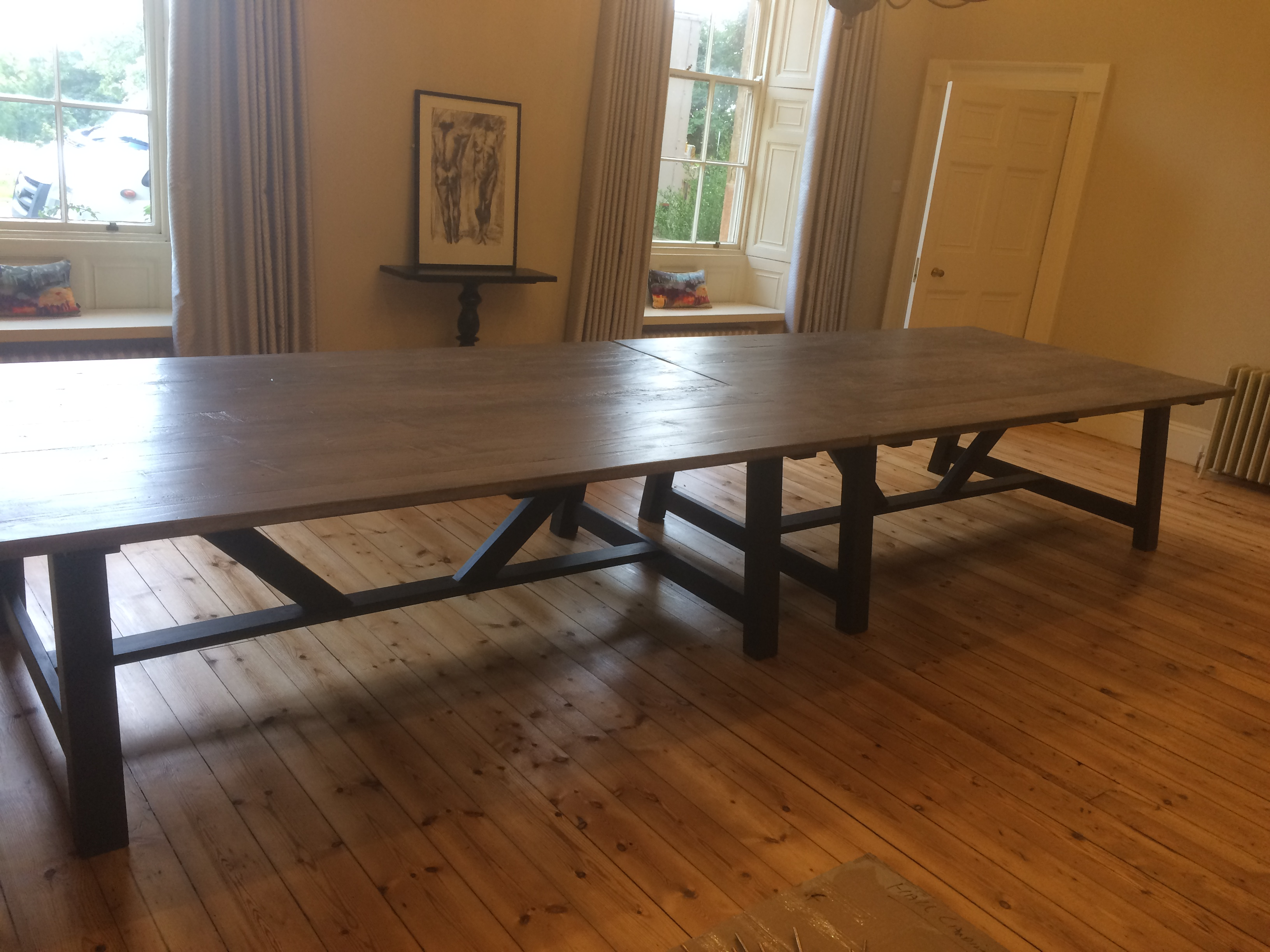 Large dining table extra large dining table boardroom table reclaimed dining table