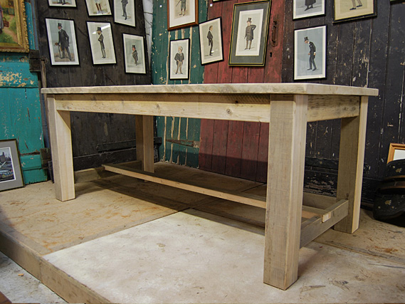 Reclaimed Vintage Refectory Table Vintage Dining