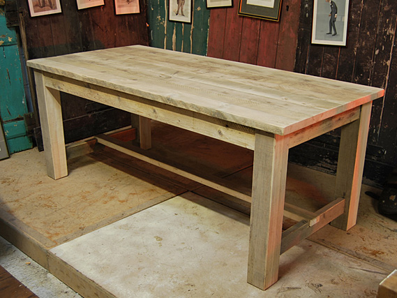 Reclaimed Vintage Refectory Table Vintage Dining Table