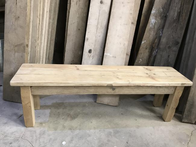 Reclaimed square leg dining bench. Made from reclaimed timber. Rustic dining tables and dining benches. Rustic Dining Furniture