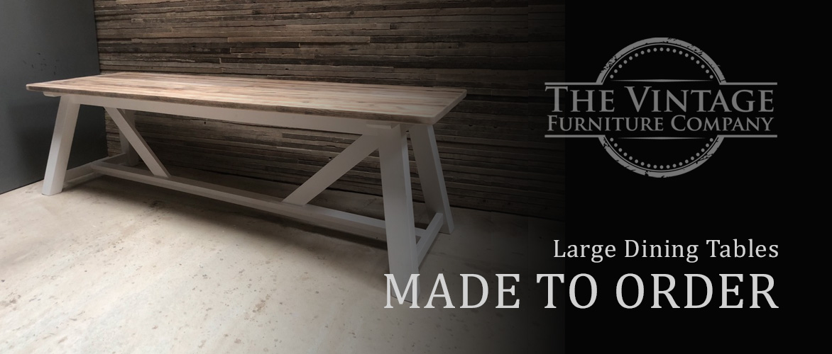 The Vintage Furniture Company | Reclaimed timber furniture | Rustic furniture | Dining tables | Farmhouse tables | Reclaimed tables | Large dining tables | Dining benches | Dining chairs | Wooden chairs