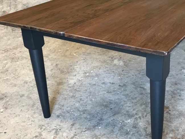 Oak Top Tapered Leg Dining Table | Mid Century Modern Table | Oak Table |DiningTable | Vintage Table | Wooden Table | Kitchen Table | Elegant Dining Table