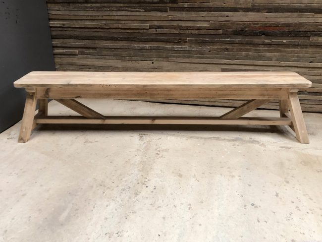 Reclaimed a-frame dining bench. Made from reclaimed timber. Rustic dining tables and dining benches. Rustic Dining Furniture
