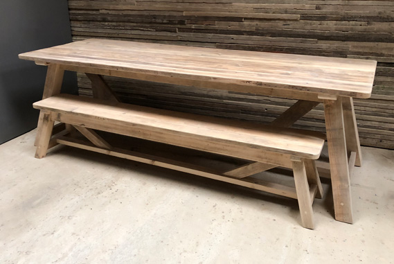 Reclaimed Timber Dining Table | A-Frame Table | Farmhouse Dining Table | Industrial Dining Table | Rustic Dining Table