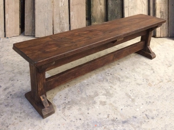 Reclaimed Braced I-Frame dining table and dining benches. Made from reclaimed timber. Rustic dining tables and dining benches. Rustic Dining Furniture