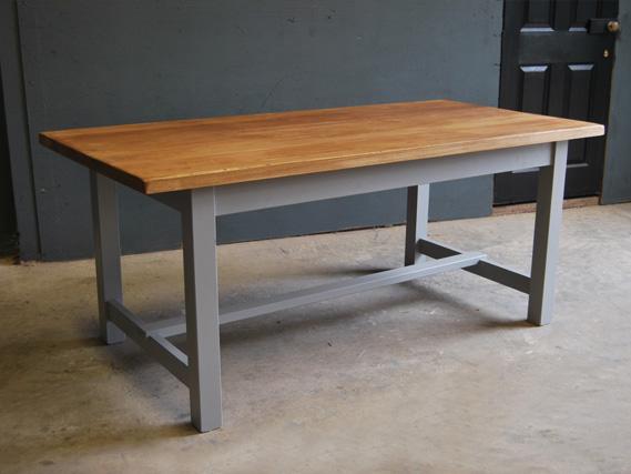 Oak top table on refectory base