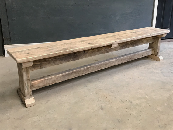 Reclaimed Timber Dining Bench | I-Frame Bench | Farmhouse Dining Bench | Industrial Dining Bench | Rustic Bench | The Vintage Furniture Company | Harrogate