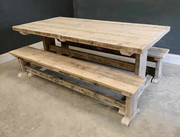 Reclaimed Timber Dining Table | I-Frame Table | Farmhouse Dining Table | Industrial Dining Table | Rustic Dining Table