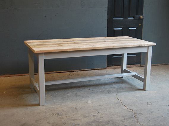 Square leg refectory dining table