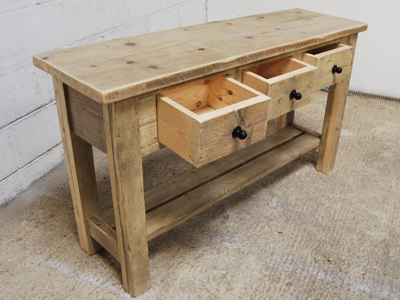 Sideboard from reclaimed timber. Vintage sideboard. Industrial sideboard. The Vintage Furniture Company