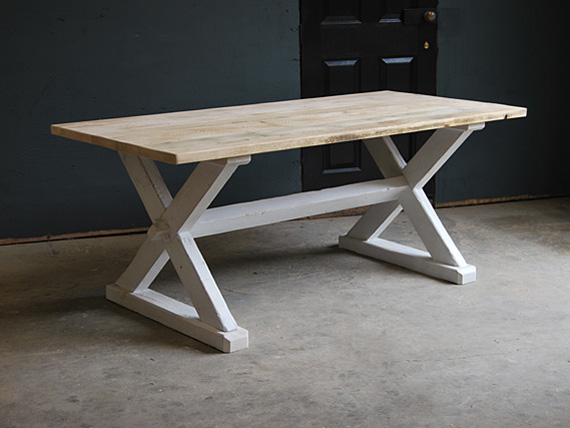 X Frame Table Vintage Furniture Co